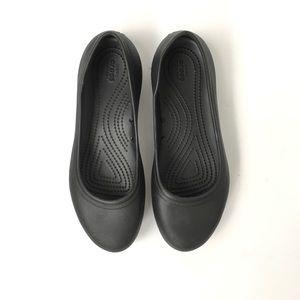 Crocs slip-resistant non-marking black flats